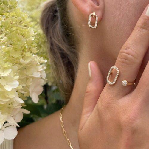Schmuck Kollektion Ringe Ohrringe mit Gold Rosegold und Diamanten von evel juwel